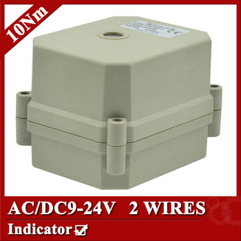 AC/DC9-24V actuated valve actuator, 2 wires(CR202) , 10Nm,  power off return