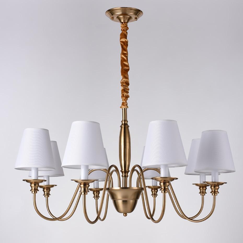 цена Modern LED Chandelier Lighting Wrought Iron Ceiling Chandeliers American Home Lighting Fixture Pendant Lamp For Living Room