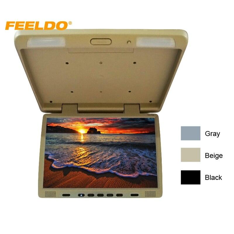 FEELDO DC12V Грузовик Автобус 17 TFT ЖК дисплей Foof установлен монитор опускающийся монитор для автомобиля dvd плеер 3 Цвет # AM1294