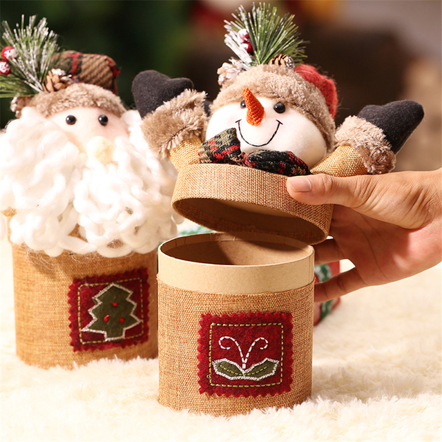 merry christmas personalized christmas decoration 21cm craft cardboard christmas box storing candy apple best supplies for - Cardboard Box Christmas Decorations