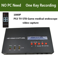 HD 1080P HDMI YPBPR AV S Video Game Video Capture Card Box Recording for XBox PS3 PS4 Medical Support Live Streaming to Youtube