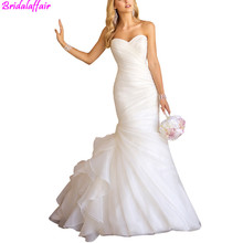 2019 Sexy Mermaid Wedding Dresses Sweetheart Tulle Dress Lace Up White Marry Bridal vestido de festa