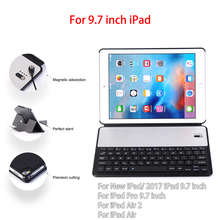 "For iPad 9.7"" Wireless Bluetooth Keyboard Case For New iPad 2017 /iPad Air 1 2/iPad Pro 9.7 inch Tablet Flip Stand Cover+Pen"