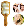 Female Wooden Combs Paddle Brush Wooden Hair Care Healthy Cushion Massage Hairbrush Comb For Women