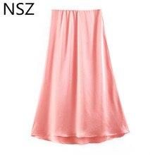 699a8dc29 Compra pink satin skirt y disfruta del envío gratuito en AliExpress.com