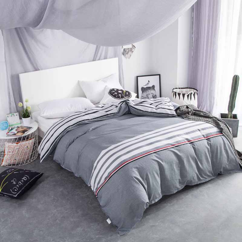 single duvet cover twin king queen size 200 220cm 100 cotton comforter blanket cover for husband. Black Bedroom Furniture Sets. Home Design Ideas