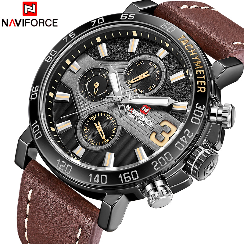 2018 New Fashion Men Watch NAVIFORCE Luxury Brand Mens Military Sport Watches Male Week Date Quartz Wristwatch Relogio Masculio цена и фото
