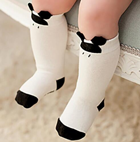 2018 Autumn Winter Hot sale Cute Kids cotton socks print animals Cartoon baby Girls socks Knee High Long fox Socks 1-6 Y