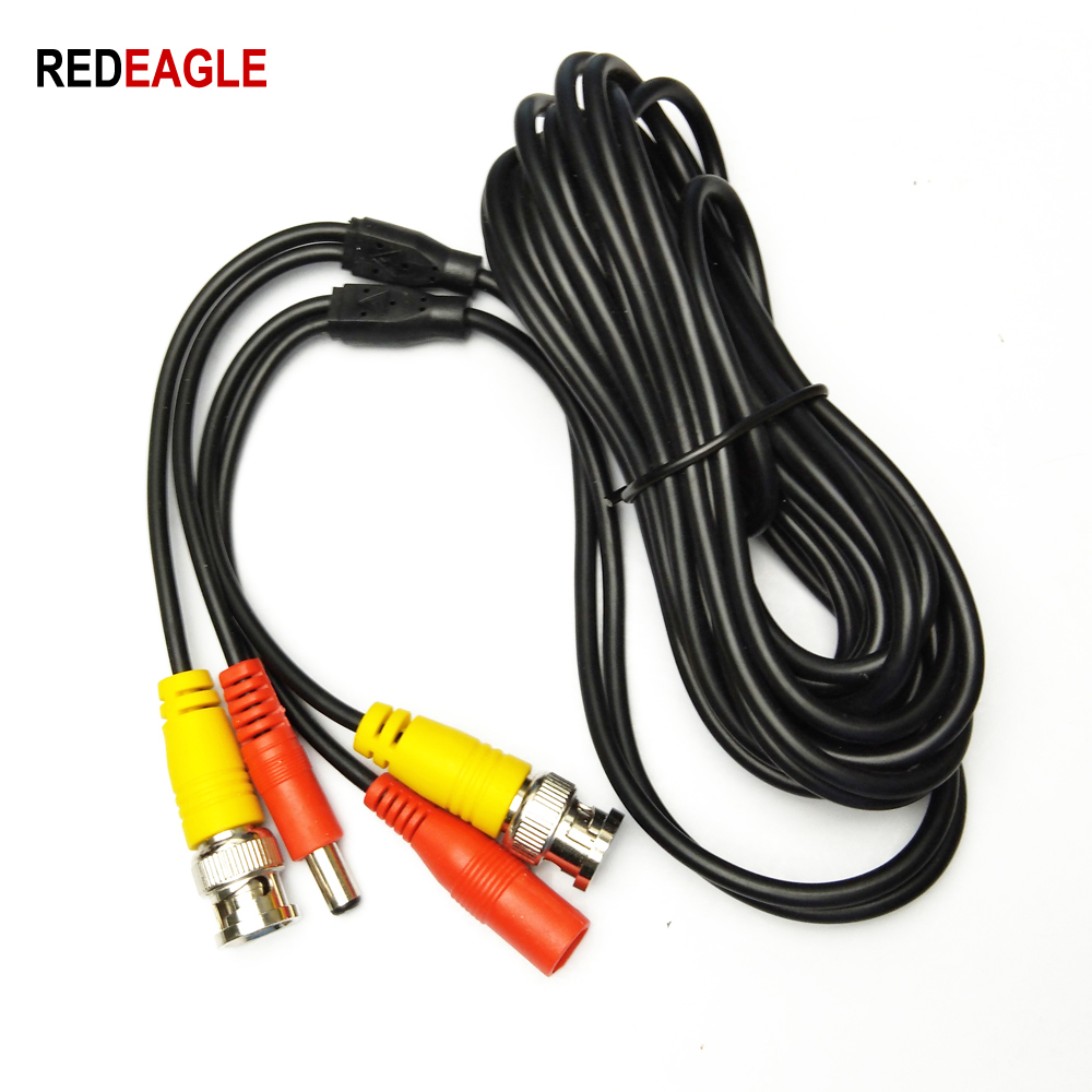 REDEAGLE BNC Cable 5M/10M/20M/30M Optional CCTV Video Output DC Plug Extension Cable For AHD TVI Analog DVR System Kit