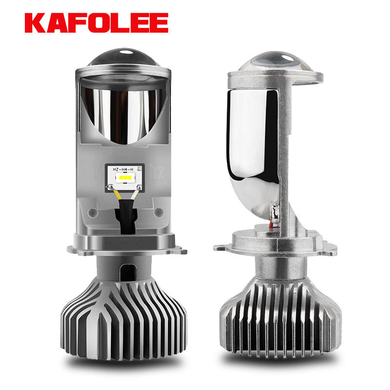 KAFOLEE Car Lights H4 LED Headlight motorcycle lamp 6000K White Yellow mini projector lens Automoblies Bulb