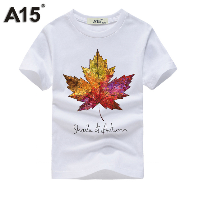 A15 Hot Sale Brand New Fashion Summer T-shirt 3d Print Tiger Casual Tops Tees Cotton Kids Boy Girls Clothes Size 8 10 12 14 Year