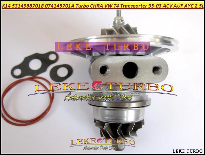 Free Ship Turbo Chra Cartridge Core K14 53149707018 53149887018 Turbocharger For VW T4 Transporter 1995-03 AJT AYY ACV AUF 2.5L turbo cartridge chra core gt1749s 700273 700273 0001 28200 4b160 for hyundai h100 truck h200 2 5l 1995 d4bf 4d56t turbocharger