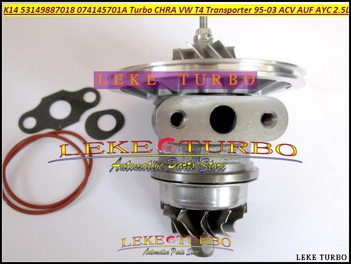 Free Ship Turbo Chra Cartridge Core K14 53149707018 53149887018 Turbocharger For VW T4 Transporter 1995-03 AJT AYY ACV AUF 2.5L