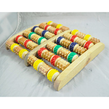 JEYL wholesale New Wooden Foot Roller Massager Reflexology for Stress Fitness Health Gift