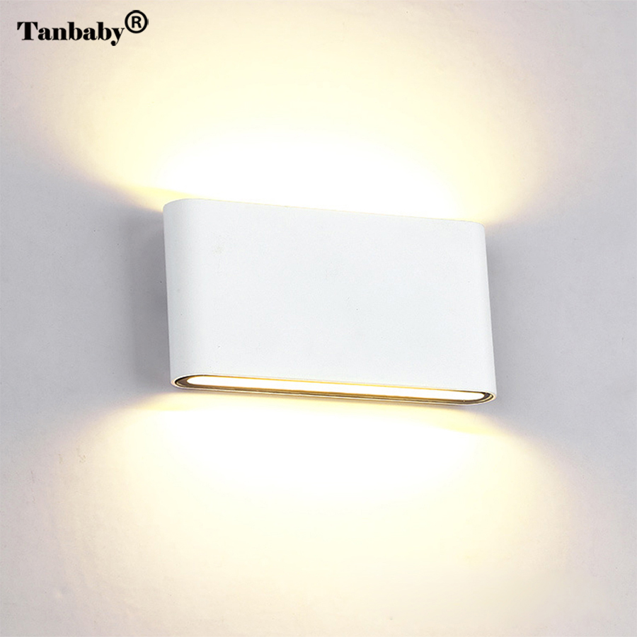 Tanbaby 12W COB LED Wall Sconce Waterproof Wall Lamp Aluminum Up an down dual head Cube lighting fixture indoor Outdoor CorriderTanbaby 12W COB LED Wall Sconce Waterproof Wall Lamp Aluminum Up an down dual head Cube lighting fixture indoor Outdoor Corrider