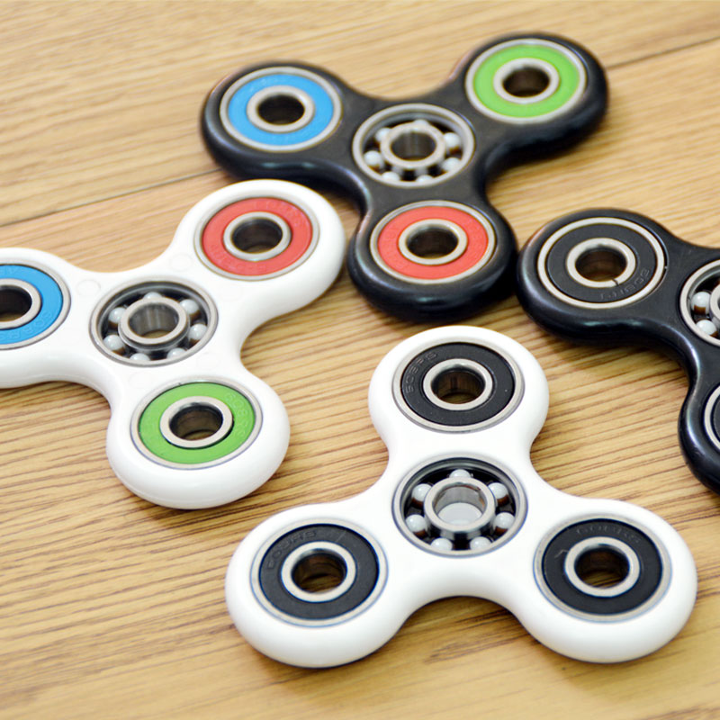 Fidget Hand Spinner Ceramic Bearing Triangle DIY Finger Tri Spinner Toy EDC Focus Toys For ADHD