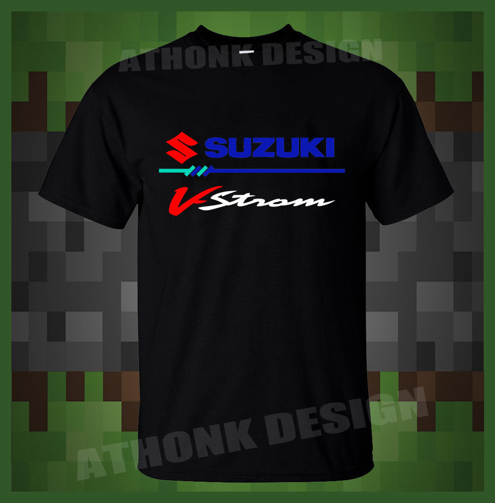 f584aa93c3 Print T-Shirt Mens Short NEW Classic Japanese Motorcycle Fans V-STROM MOTOR  SPORTER