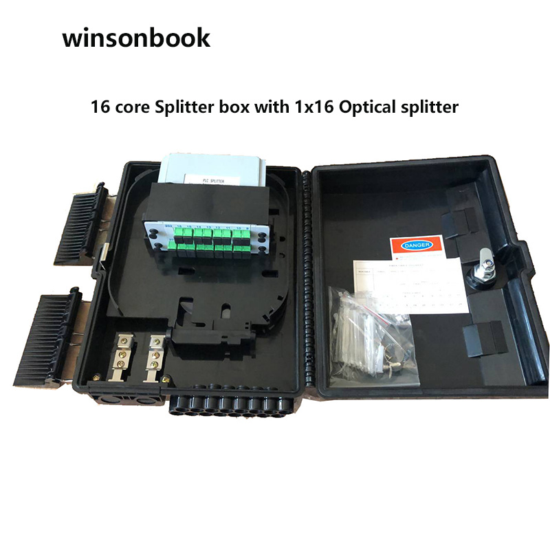 16 Core Fiber Optical Termination Box Distribution Box With 1X16 Optical Splitter FTTH Fiber Optical Splitter Box