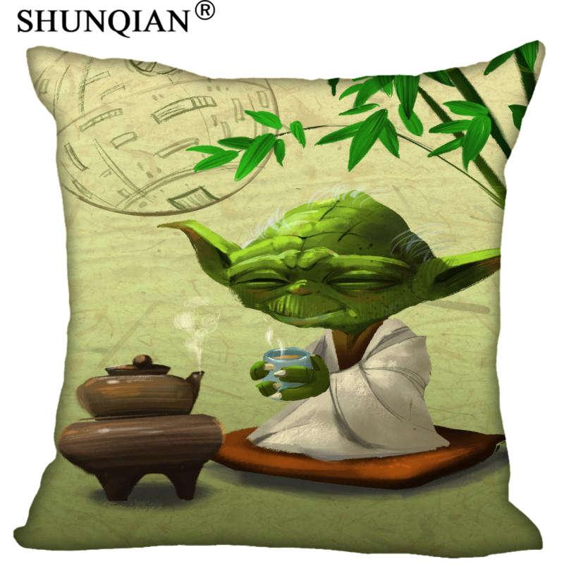 Yoda Custom Gift Pillow Cover Decorative Square Zippered Two Side Pillowcase 35x35cm 40x40cm 45x45cm 60x60cm|Pillow Case| |  - title=