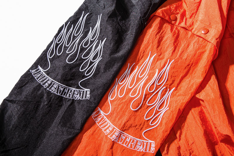 Sleeve Fire Flame Embroidered Pullover Hoodie 11