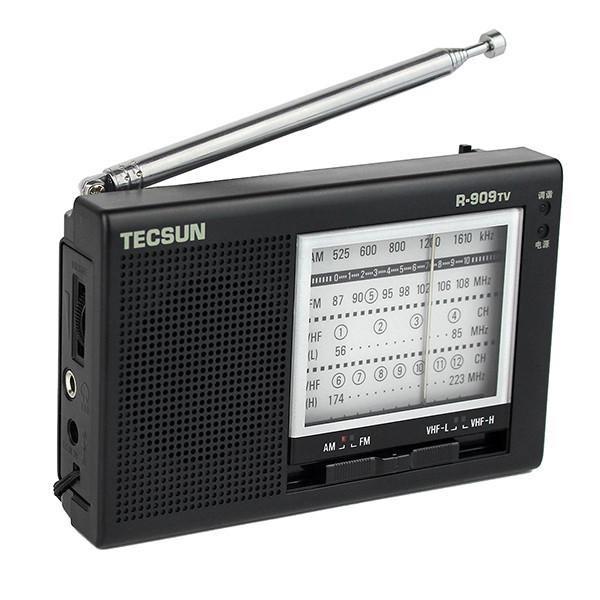 Portable TECSUN R-909TV FM  AM  VHF Broadcasting Radio (4)