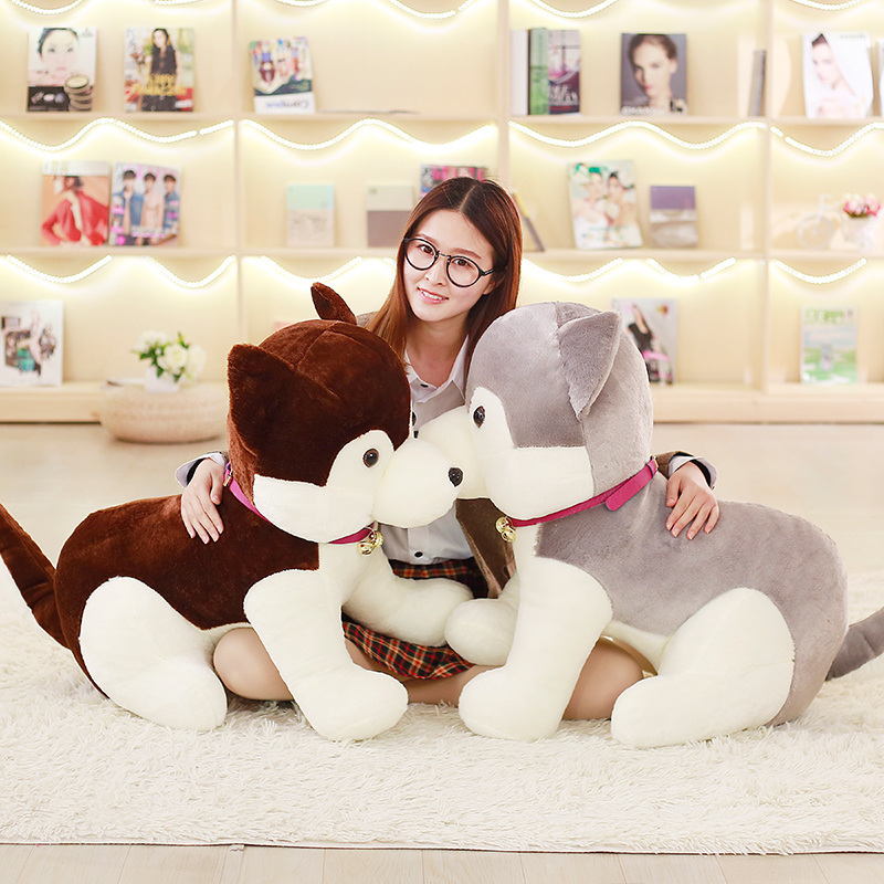 huge lovely plush Husky toy new big husky dog doll gift about 80cm стоимость