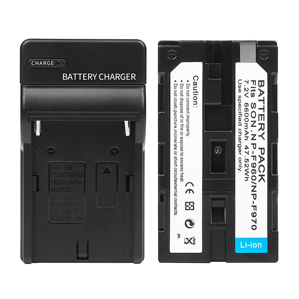 SHOOT-6600mAh-NP-F960-NP-F970-Li-ion-Replacement-Battery-with-Recharge-Charger-For-Sony-Action (1)