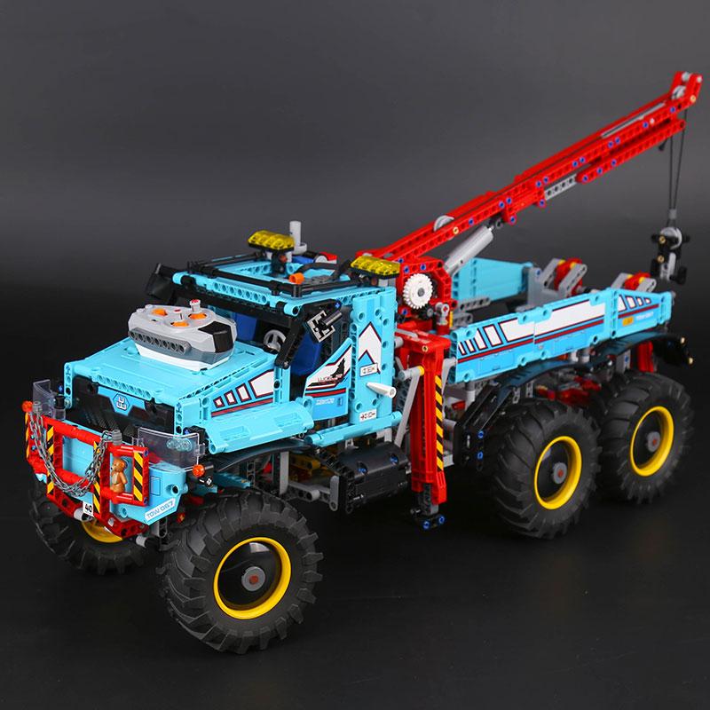 Lepin 20056 The Ultimate All Terrain 6X6 Remote Control Truck Set Building Blocks Bricks LegoINGlys Toys 42070 lepin technic калуга шины bfgoodrich all terrain ta