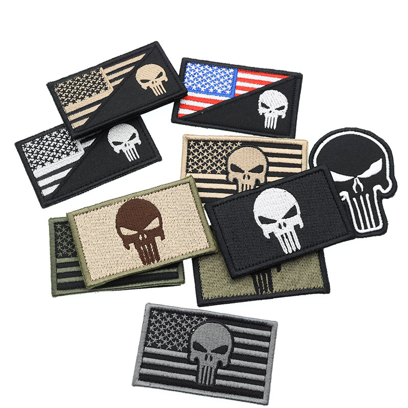 Arts,crafts & Sewing New Punisher Army Tactical Backpack Embroidery Armband Personalized Military Badge Apparel Hat Fabric Selling Well All Over The World Special Price
