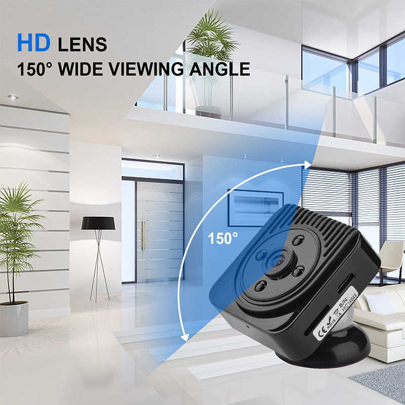 Wifi mini camera HD 1080P Home Security IP Camera Wireless Mini camcorders  Audio Video with Night Vision IR for Baby Monitor