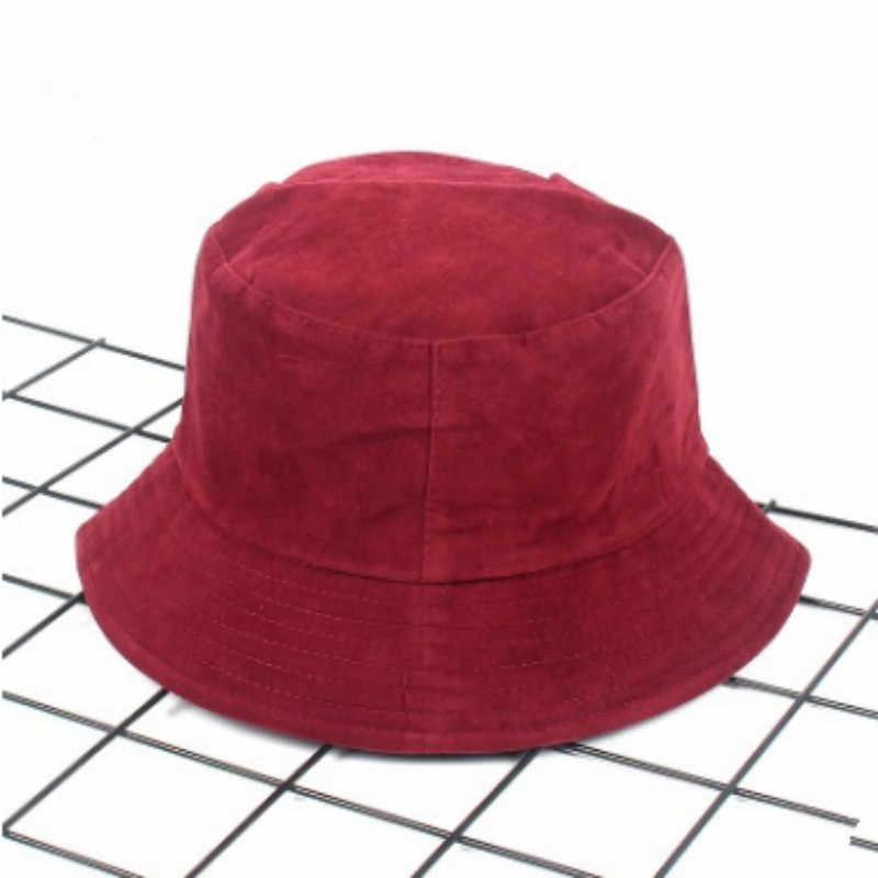 Katı Kış Kova Şapka Kadınlar Için Açık Rüzgar Geçirmez Kadife Kış Panama Sıcak Bahar Sonbahar Kadın balıkçılık şapkası