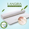LANGRIA 3-Inch Memory Foam Mattress Topper with Removable Zippered Bamboo Cover Twin Full Queen Gel-infused Mattress Optional