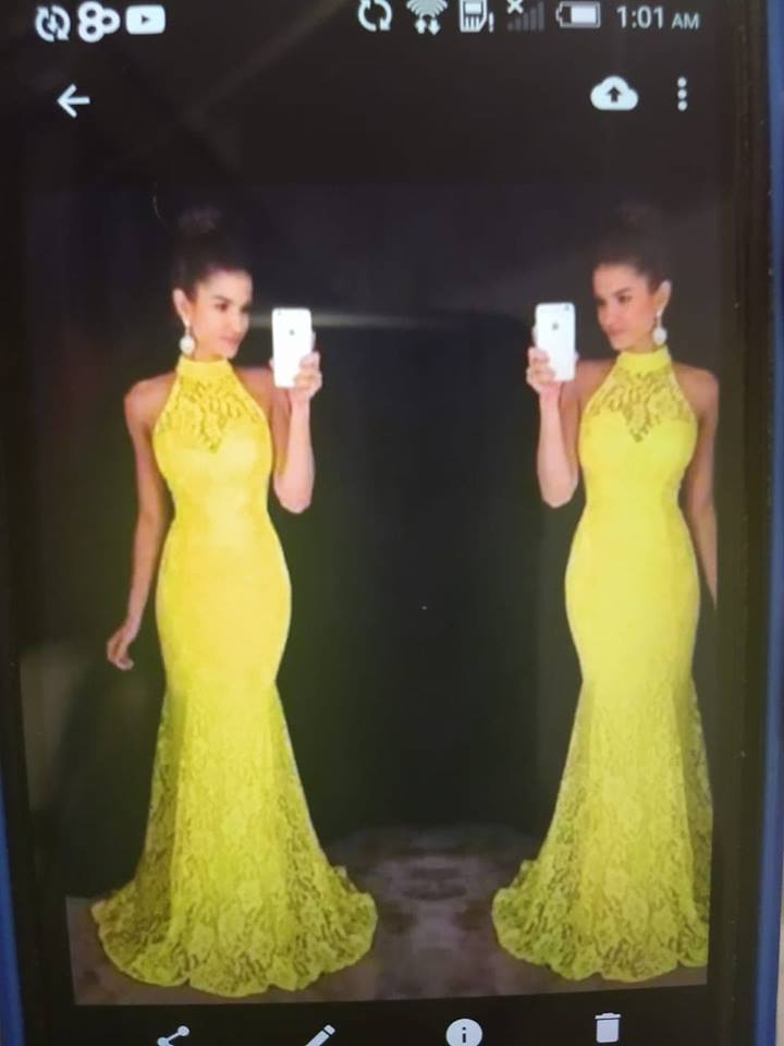 free shipping 2019 new design trouwjurk vestidos formales hot mermaid halter girls 39 party prom custom lace evening dress in Evening Dresses from Weddings amp Events