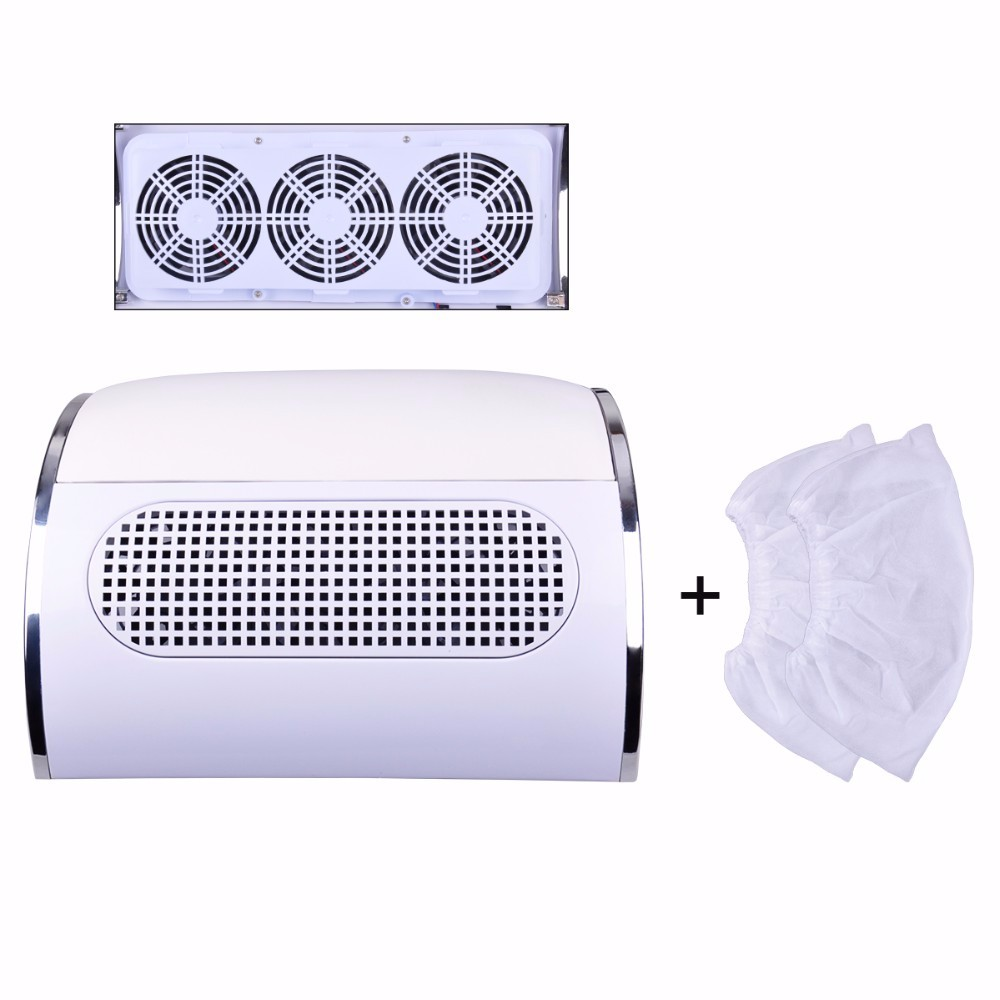 Powerful Biutee Nail Dust Suction Collector 3 Fan Vacuum Cleaner Manicure Tools with 2 Dust Collecting Bags