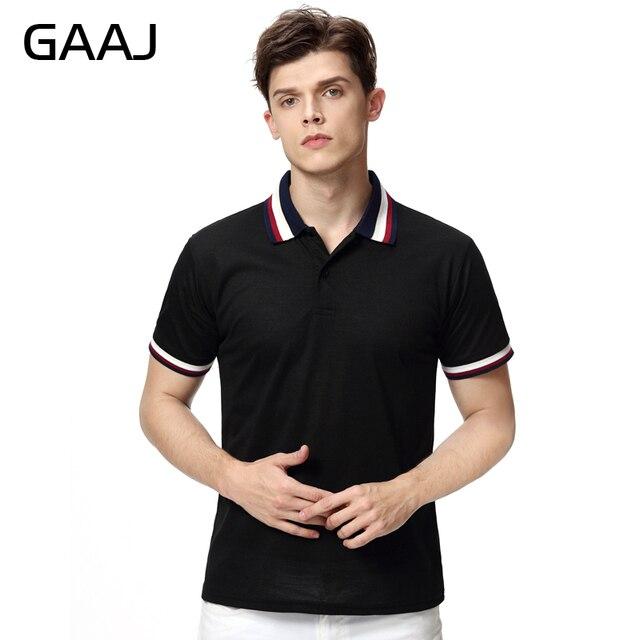 Nouveau 2017 Hommes Marque Polo Shirt Manches Courtes Col Solide Coton  Camisa Polos Homme pas cher ad4e1d4ba7c