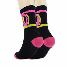 NEW trendy mens tube cotton socks striped casual sweat deodorant donut