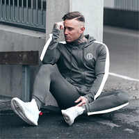 2018 Herfst Winter Outdoor Sport Past Mannen Hoodies Sets M 2XL Big Size Mens Gym Sportkleding Running Joggingpak Man Trainingspak