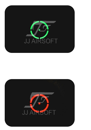 JJ Airsoft 5x2 55X אדום / ירוק נקודה (שחור / טאן) - ציד