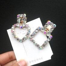 new Korea Shiny Crystal Rhinestones Hairpins Geometric Rectangle Waterdrop Imitiation Pearl Hair Clips Hair Accessories