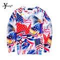 2016 Más Nuevos Hombres Mujeres Harajuku Camisetas Gráficas 3d Print Perro Sudadera Con Capucha Divertida de Cuello Redondo Animal Sudadera Moleton Feminino RJ_1282