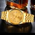 Relógio de Negócios de luxo da marca BOSCK mulheres Ouro de aço inoxidável homens moda casual assistir casal relógio de quartzo-relógio reloj hombre