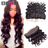 Top 7A Lace Frontal Closure Peruvian Body Wave Ear To Ear Full Frontal Lace Closure 13x4 Peruvian Lace Frontals With Baby Hair