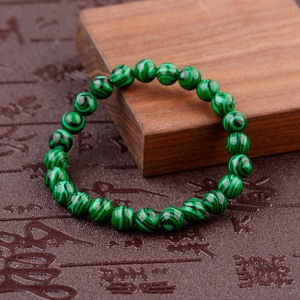 Image 2 - 2020 Natural Green Stripe Stone Beads Bracelet Charm Men Meditation Handmade Bracelets&Bangles Prayer Jewelry Women AB139