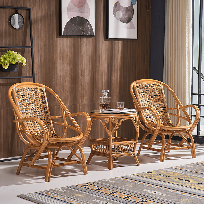 Antieke Lounge Stoel.Rattan Furniture Muebles De Sala Armchair Lounge Chair Tea Table