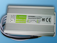 high quality waterproof IP67 power supply 200W output voltage 12V/24VDC led transformer used for outdoor lighting