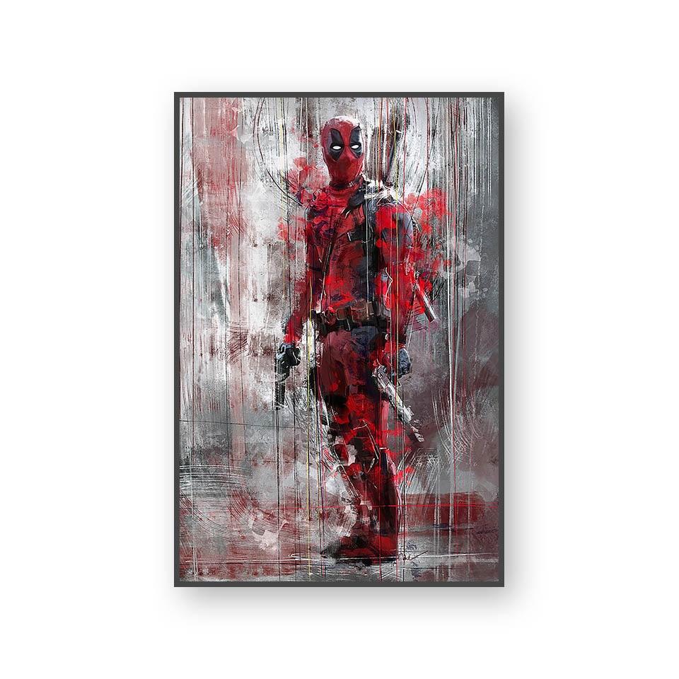 Настенный художественный холст с печатью постера, настенные картины для домашнего декора, Марвел, Мстители, фильм супергерой, Дэдпул, Железный Человек-паук, Локи - Цвет: L394P