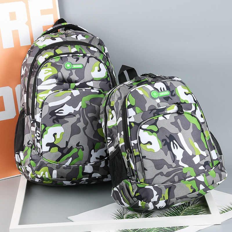 2 rozmiary torba na książki kamuflaż wodoodporne torby szkolne dziewczyny chłopcy dzieci Mochila Escolar tornister