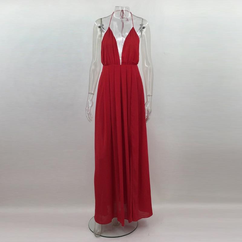 HTB1  8WXfNNTKJjSspkq6yeWFXag - 2018 New Fashion Sling Bandage Maxi Long Dress Women's Robe Long femme vestido de festa elbise