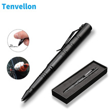 Tenvellon Self Defense Supplies Tactical Pen With Pen Box Tungsten Steel Security Protection Personal Defense Tool Defence EDC