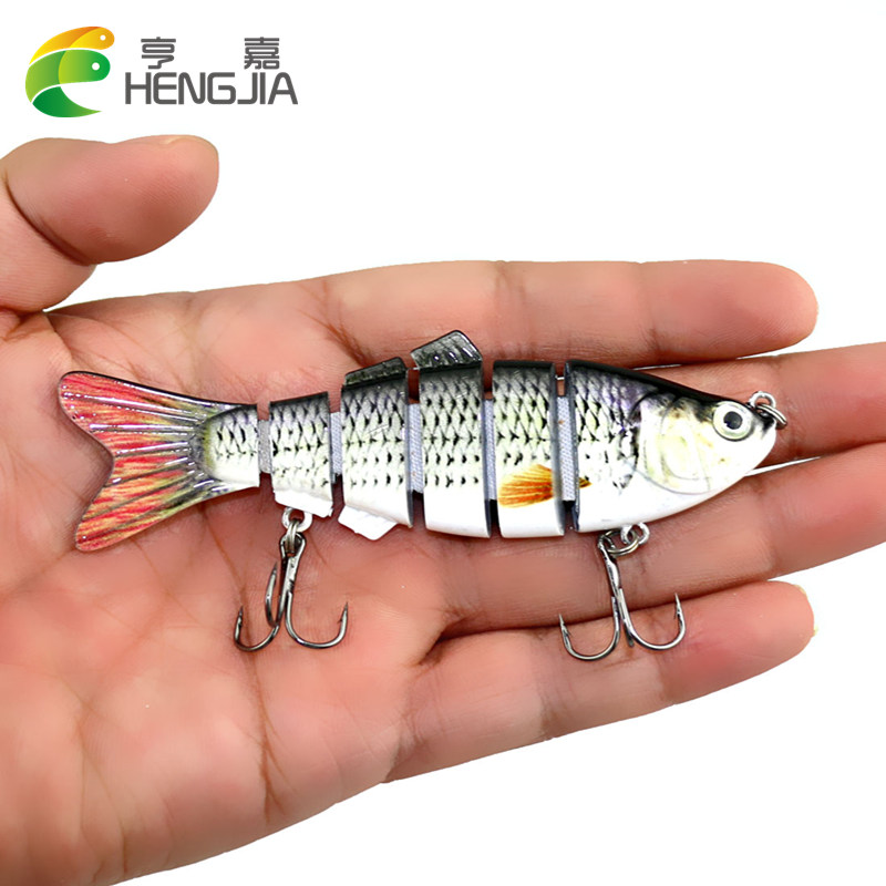 HENGJIA Fishing Wobblers 10cm 18g Lifelike Fishing Lure 6 swim bait jointed Crankbait Hard Bait Isca Artificial Fishing Tackle 1pcs lifelike 8 5g 9 5cm minow wobblers hard fishing tackle swim bait crank bait bass fishing lures 6 colors fishing tackle